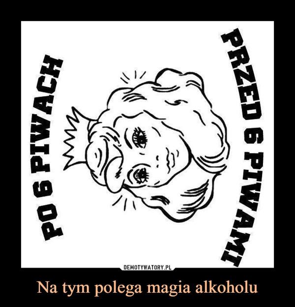 Na tym polega magia alkoholu –