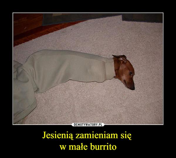 Jesienią zamieniam się w małe burrito –