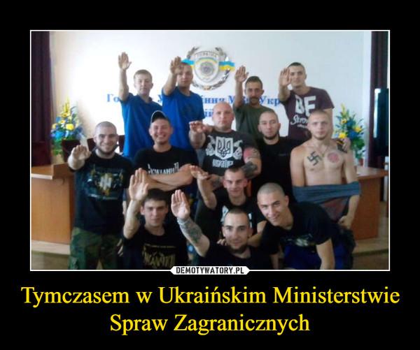 Tymczasem w Ukraińskim Ministerstwie Spraw Zagranicznych –