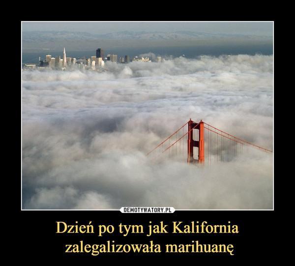 Dzień po tym jak Kalifornia zalegalizowała marihuanę –