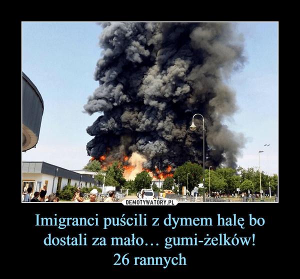 Imigranci puścili z dymem halę bo dostali za mało… gumi-żelków!26 rannych –