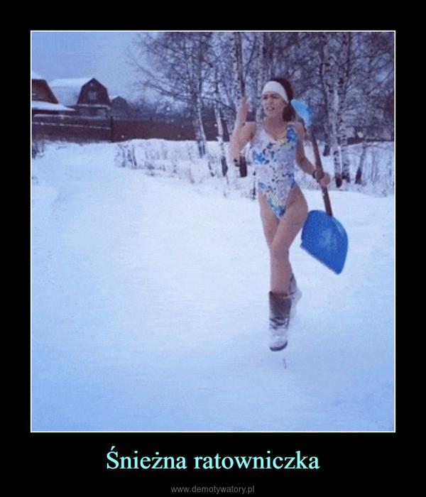 Śnieżna ratowniczka –