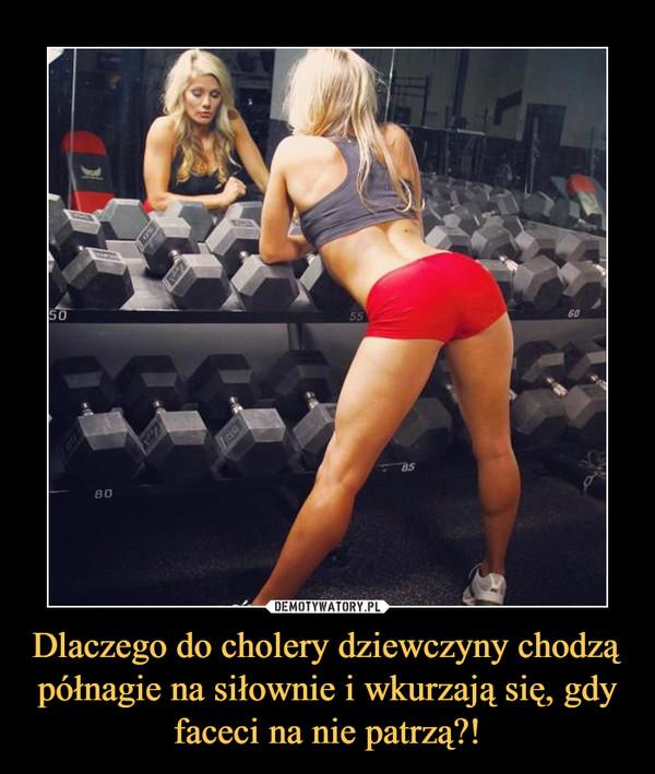 Dlaczego do cholery dziewczyny chodzą półnagie na siłownie i wkurzają się, gdy faceci na nie patrzą?! –