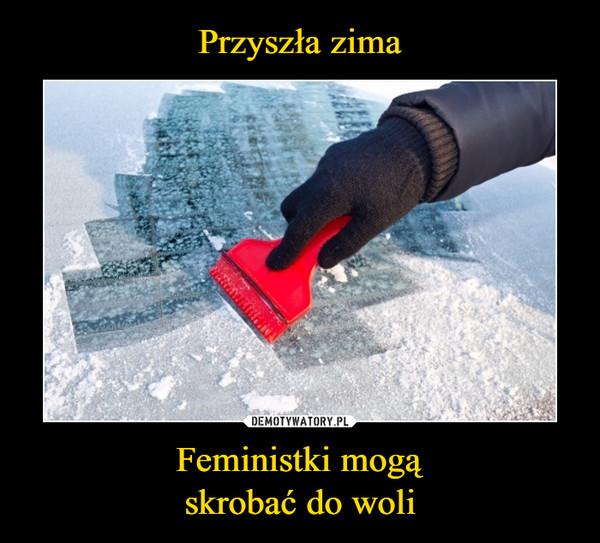 Feministki mogąskrobać do woli –