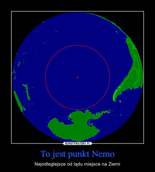 To jest punkt Nemo – Najodleglejsze od lądu miejsce na Ziemi