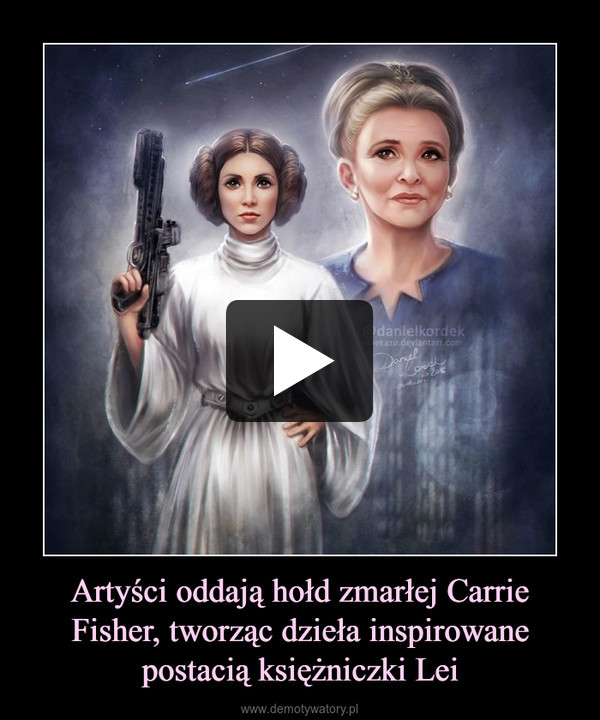 Artyści oddają hołd zmarłej Carrie Fisher, tworząc dzieła inspirowane postacią księżniczki Lei –