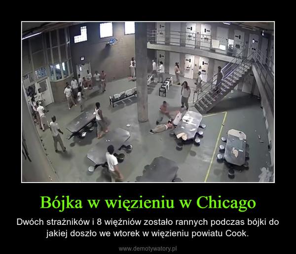 Bójka w więzieniu w Chicago – Dwóch strażników i 8 więźniów zostało rannych podczas bójki do jakiej doszło we wtorek w więzieniu powiatu Cook.