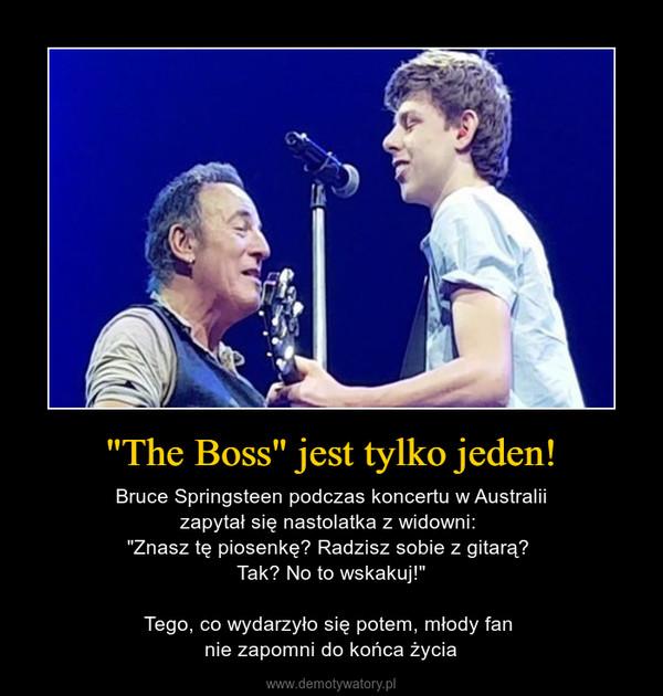 """""""The Boss"""" jest tylko jeden! – Bruce Springsteen podczas koncertu w Australiizapytał się nastolatka z widowni: """"Znasz tę piosenkę? Radzisz sobie z gitarą? Tak? No to wskakuj!""""Tego, co wydarzyło się potem, młody fan nie zapomni do końca życia"""