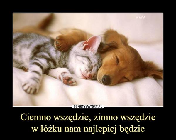 Ciemno wszędzie, zimno wszędziew łóżku nam najlepiej będzie –
