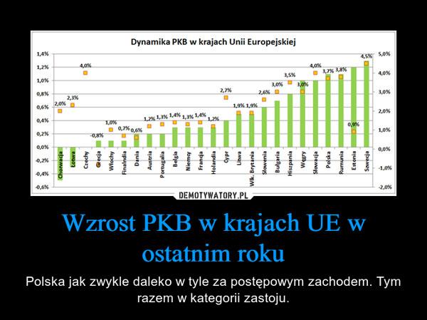 Wzrost PKB w krajach UE w ostatnim roku – Polska jak zwykle daleko w tyle za postępowym zachodem. Tym razem w kategorii zastoju.