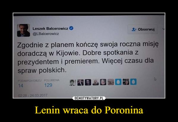 Lenin wraca do Poronina –