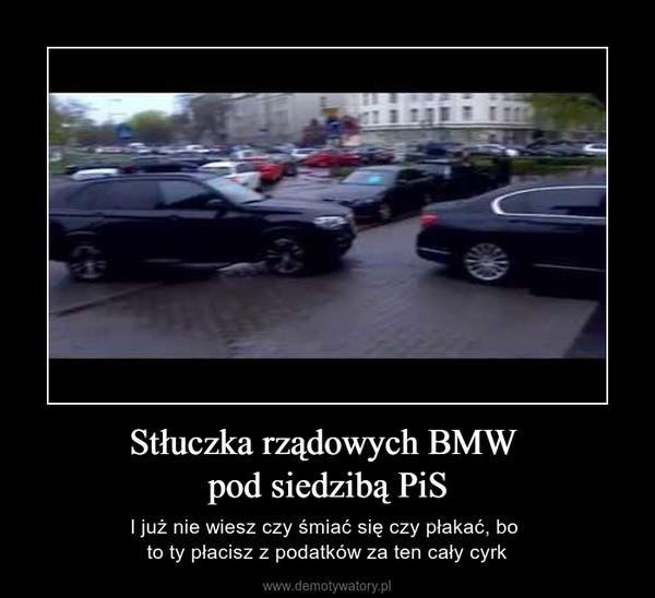 Stłuczka rządowych BMW pod siedzibą PiS – I już nie wiesz czy śmiać się czy płakać, bo to ty płacisz z podatków za ten cały cyrk