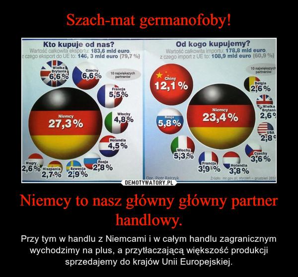 Niemcy to nasz główny główny partner handlowy. – Przy tym w handlu z Niemcami i w całym handlu zagranicznym wychodzimy na plus, a przytłaczającą większość produkcji sprzedajemy do krajów Unii Europejskiej.