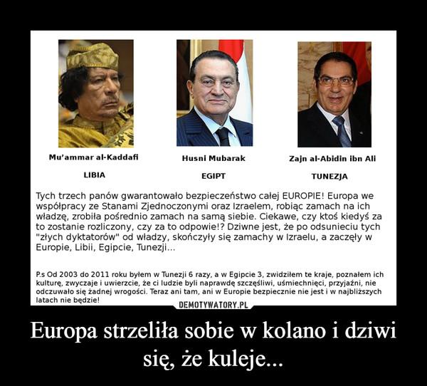 Europa strzeliła sobie w kolano i dziwi się, że kuleje... –