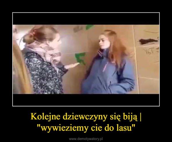"""Kolejne dziewczyny się biją   """"wywieziemy cie do lasu"""" –"""