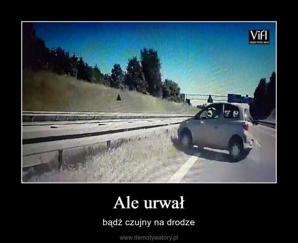 Ale urwał – bądź czujny na drodze