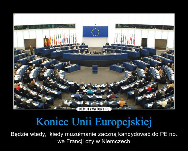 Koniec Unii Europejskiej – Będzie wtedy,  kiedy muzułmanie zaczną kandydować do PE np. we Francji czy w Niemczech