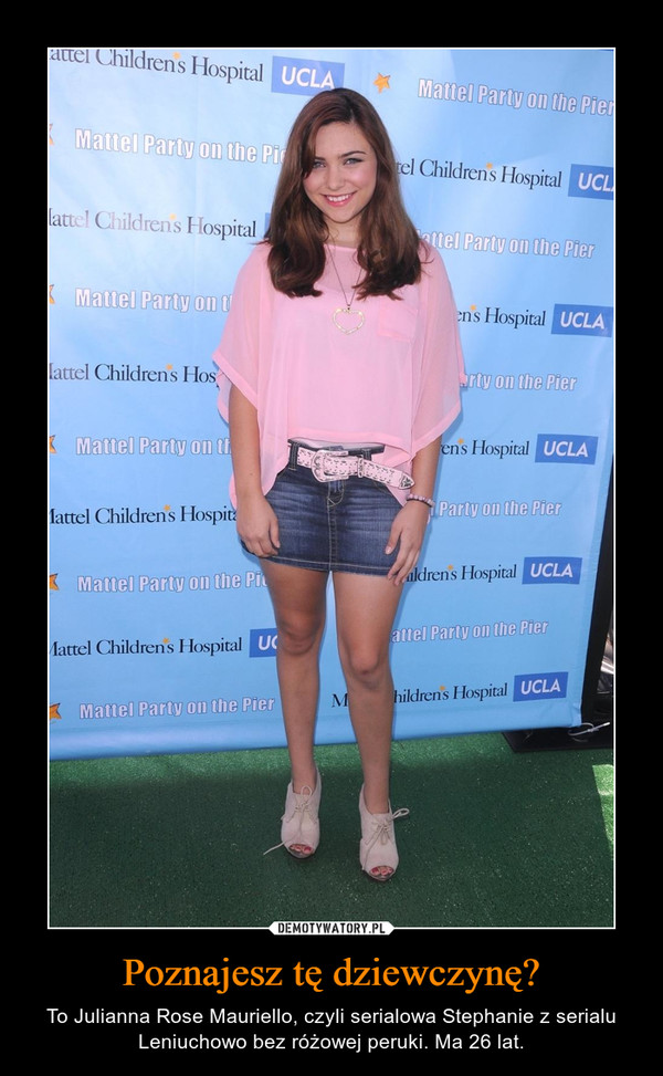 Poznajesz tę dziewczynę? – To Julianna Rose Mauriello, czyli serialowa Stephanie z serialu Leniuchowo bez różowej peruki. Ma 26 lat.