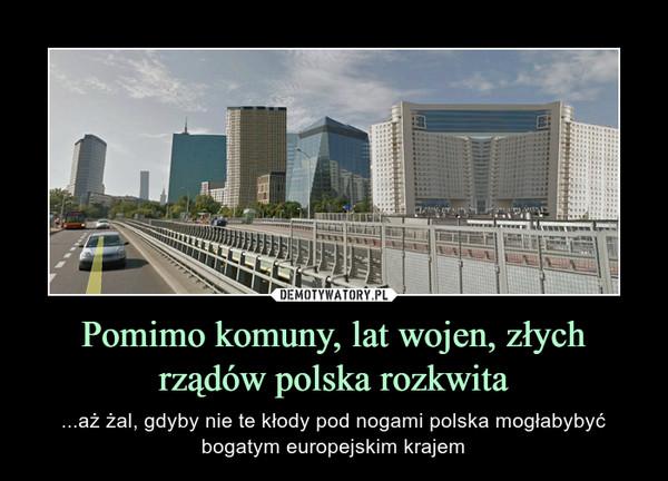 Pomimo komuny, lat wojen, złych rządów polska rozkwita – ...aż żal, gdyby nie te kłody pod nogami polska mogłabybyć bogatym europejskim krajem