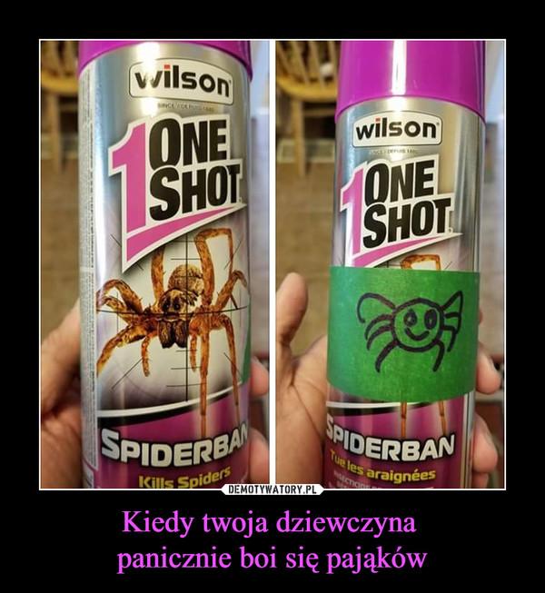 Kiedy twoja dziewczyna panicznie boi się pająków –