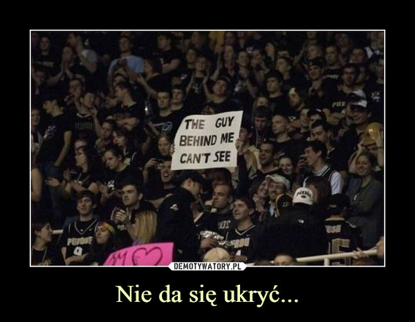 Nie da się ukryć... –  The guy behind me can't see