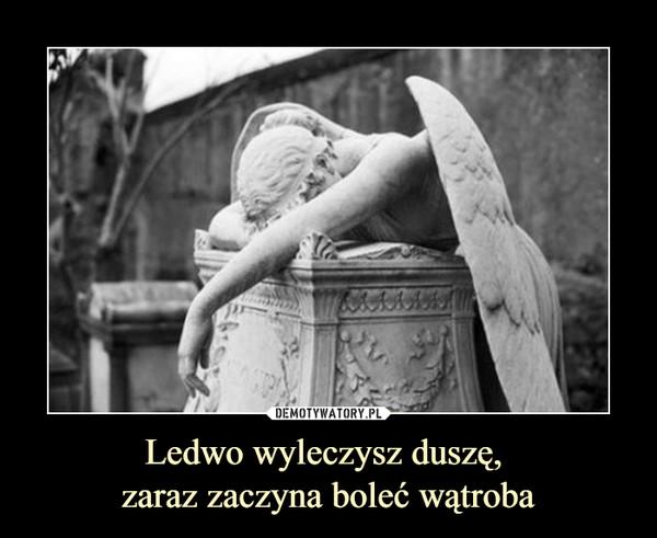 Ledwo wyleczysz duszę, zaraz zaczyna boleć wątroba –