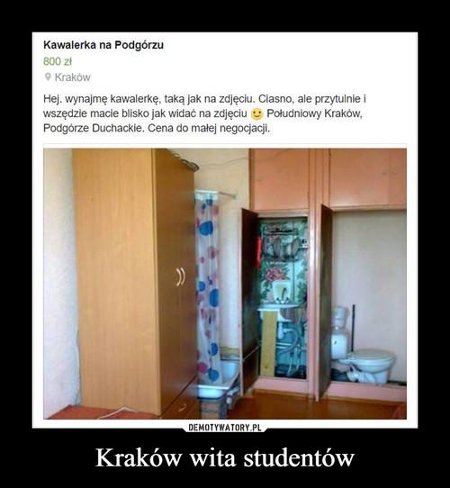Kraków wita studentów