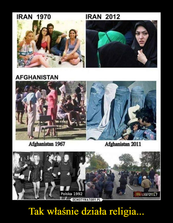 Tak właśnie działa religia... –