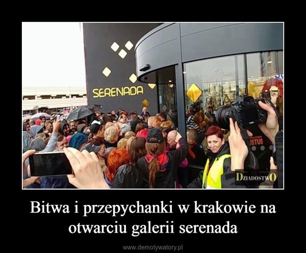 Bitwa i przepychanki w krakowie na otwarciu galerii serenada –