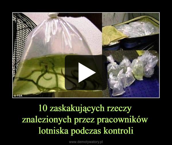10 zaskakujących rzeczy znalezionych przez pracowników lotniska podczas kontroli –