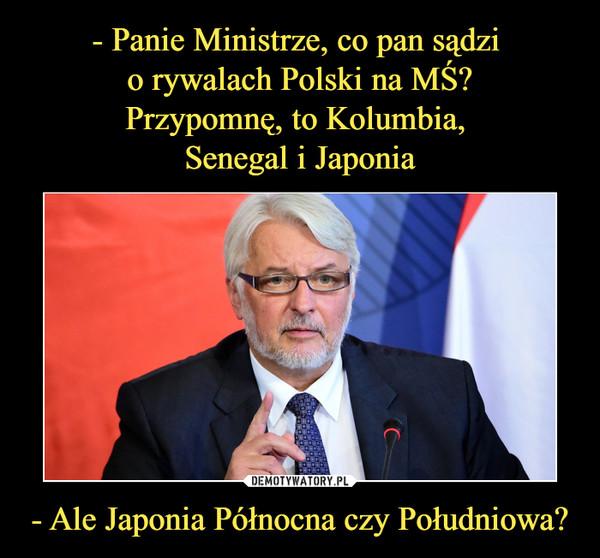 - Ale Japonia Północna czy Południowa? –