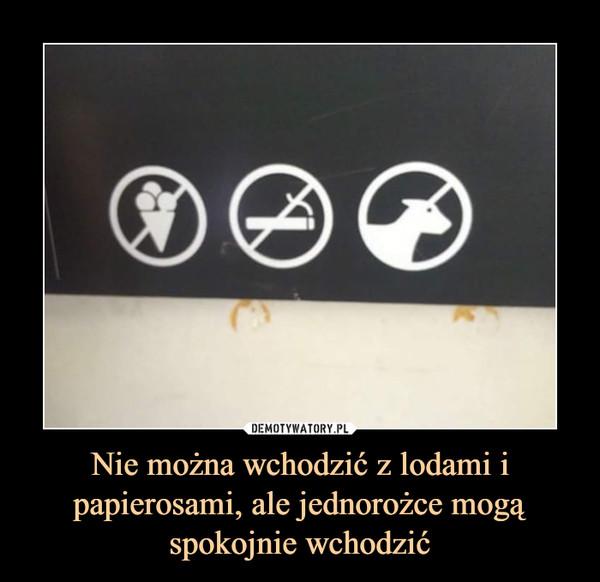 Nie można wchodzić z lodami i papierosami, ale jednorożce mogą spokojnie wchodzić –
