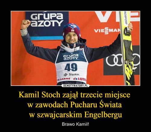 Kamil Stoch zajął trzecie miejsce  w zawodach Pucharu Świata  w szwajcarskim Engelbergu