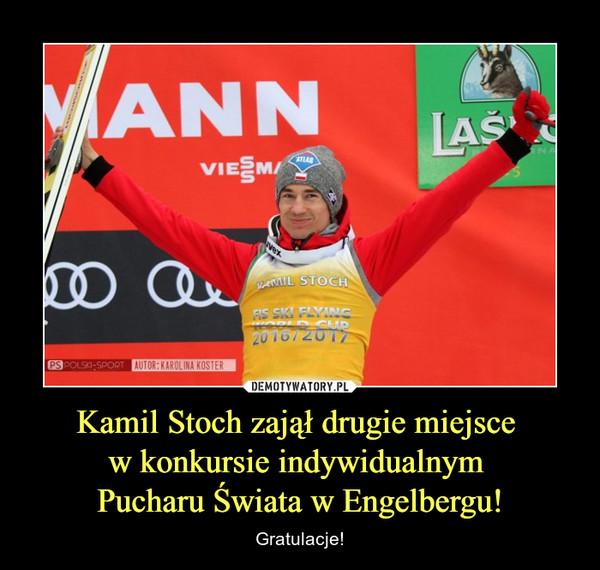 Kamil Stoch zajął drugie miejsce w konkursie indywidualnym Pucharu Świata w Engelbergu! – Gratulacje!