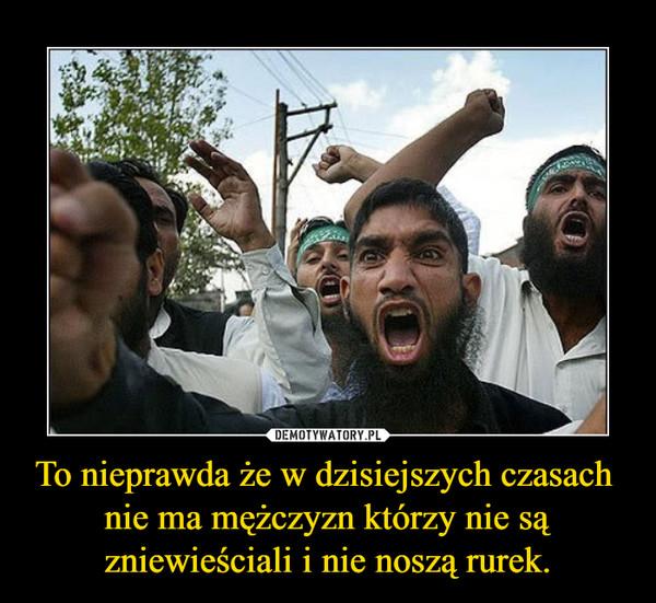To nieprawda że w dzisiejszych czasach nie ma mężczyzn którzy nie są zniewieściali i nie noszą rurek. –