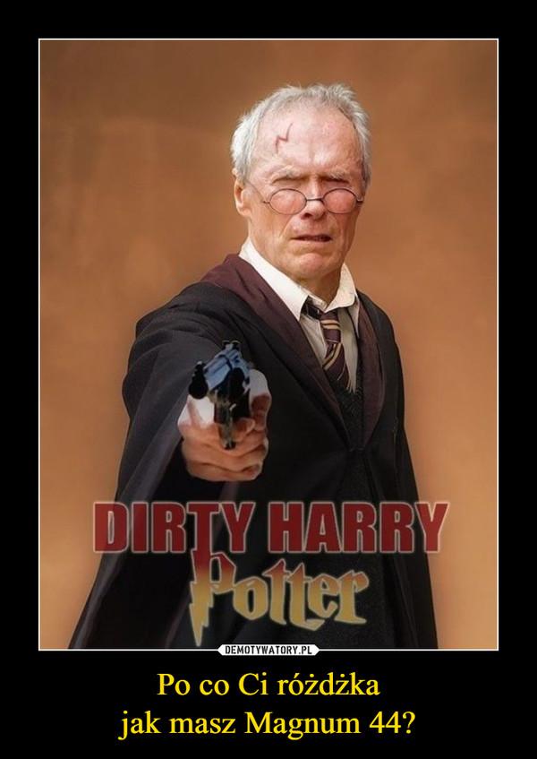 Po co Ci różdżkajak masz Magnum 44? –  Dirty Harry Potter