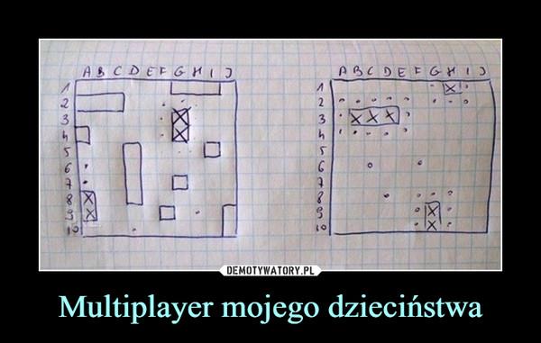Multiplayer mojego dzieciństwa –