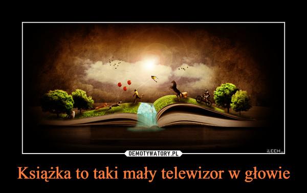 Książka to taki mały telewizor w głowie –