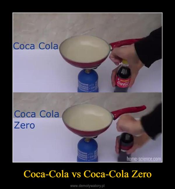 Coca-Cola vs Coca-Cola Zero –