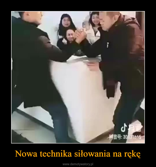 Nowa technika siłowania na rękę –