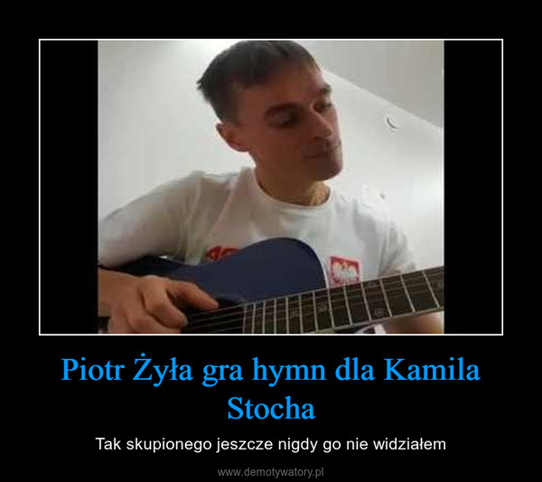 Piotr Żyła gra hymn dla Kamila Stocha – Tak skupionego jeszcze nigdy go nie widziałem