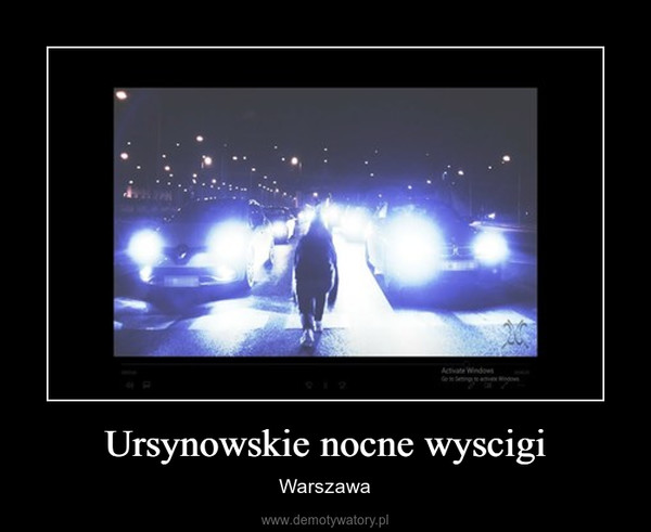 Ursynowskie nocne wyscigi – Warszawa