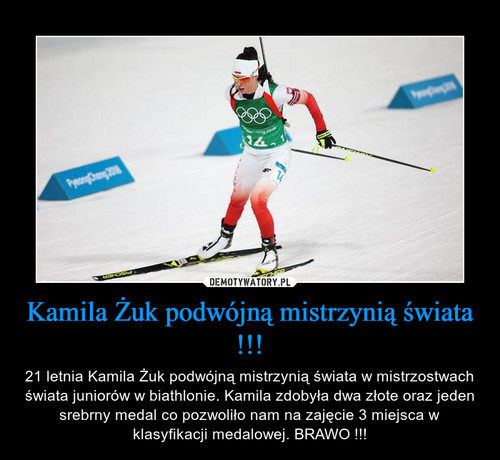 Kamila Żuk podwójną mistrzynią świata !!!