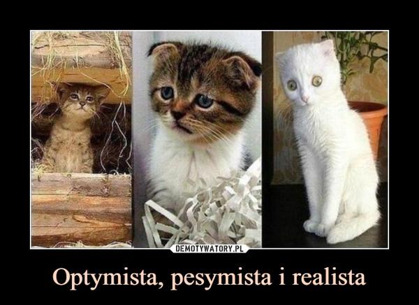 Optymista, pesymista i realista –