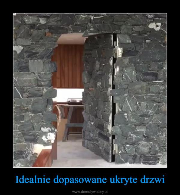 Idealnie dopasowane ukryte drzwi –