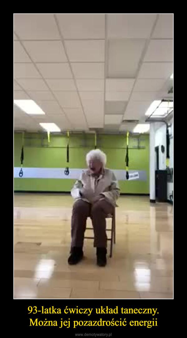 93-latka ćwiczy układ taneczny.Można jej pozazdrościć energii –