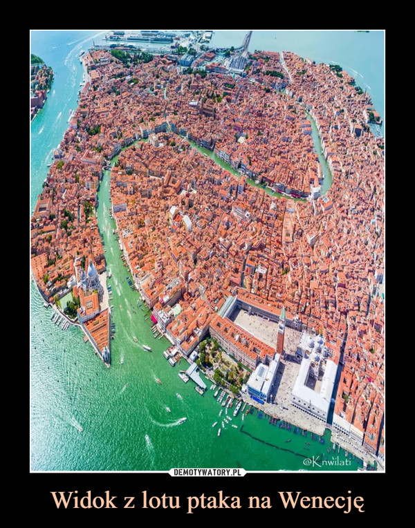 Widok z lotu ptaka na Wenecję –