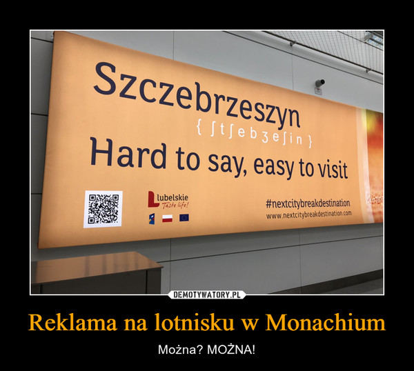 Reklama na lotnisku w Monachium – Można? MOŻNA!