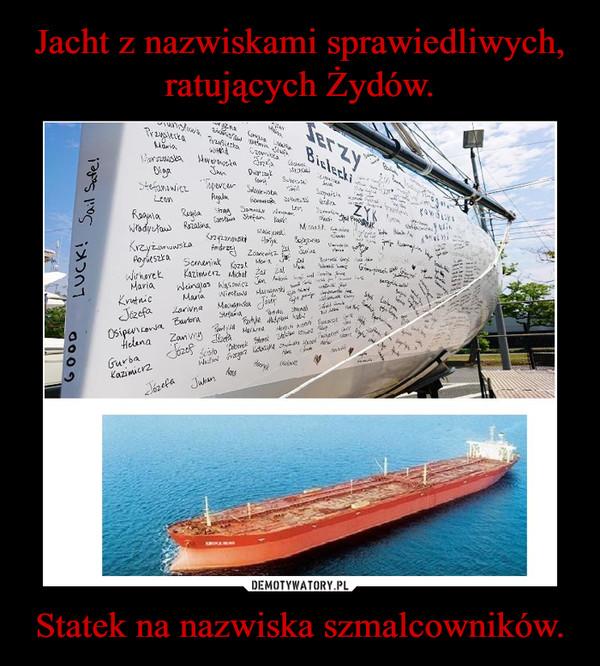 Statek na nazwiska szmalcowników. –
