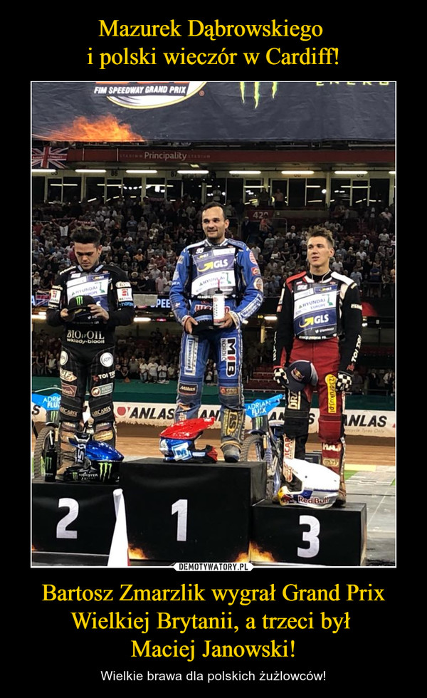 Bartosz Zmarzlik wygrał Grand Prix Wielkiej Brytanii, a trzeci był Maciej Janowski! – Wielkie brawa dla polskich żużlowców!